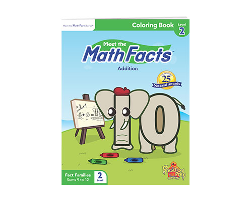 Math Facts Addition Subtraction Coloring Book 2