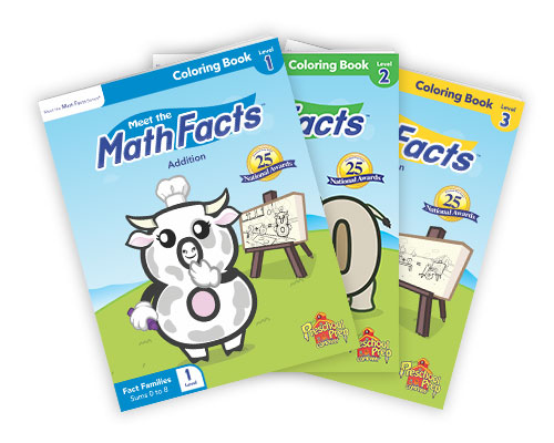 Meet the Math Facts Addition & Subtraction Coloring Books 3 Pack