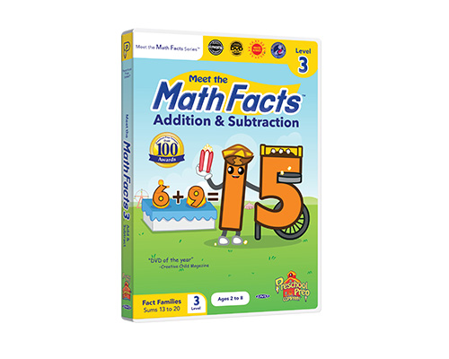 Meet the Math Facts Addition & Subtraction Level 3 DVD