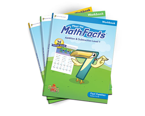 Meet the Math Facts Addition & Subtraction Workbook 3 Pack