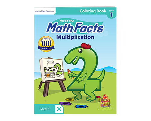 Math Facts Multiplication Coloring Book Level 1