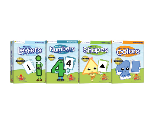 Basics Flashcards 4 Pack (Letters, Numbers, Shapes, & Colors)