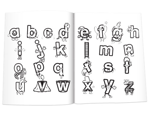 Alphabet Sounds Coloring Pages : Meet the phonics pack coloring books