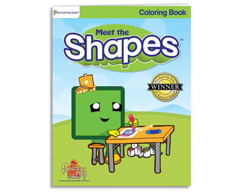 Meet the Shapes - Coloring Book