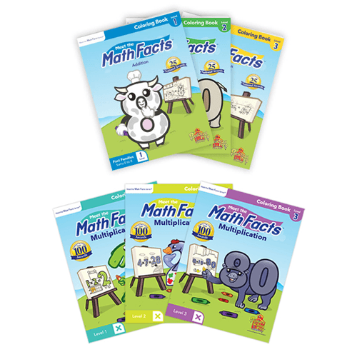 Math Facts Coloring Books 6 Pack